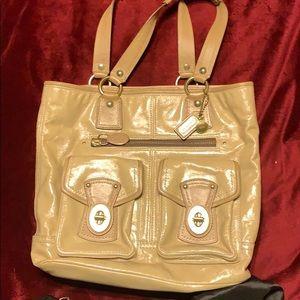 Coach Patent Leather Brief case Bag
